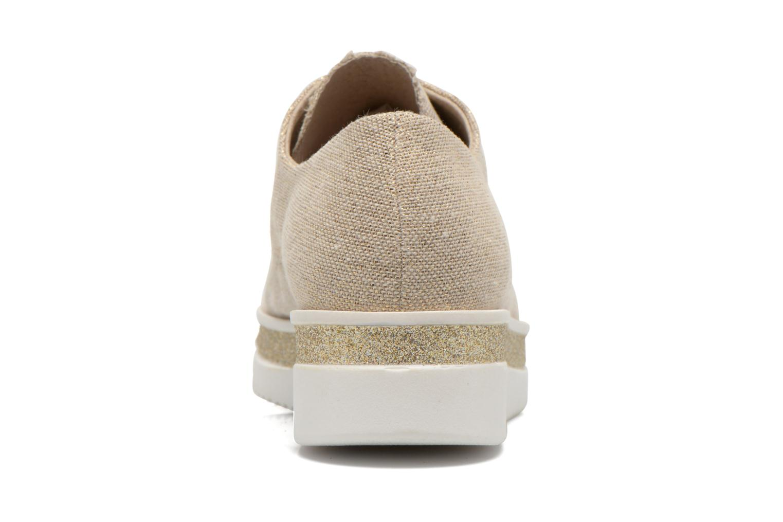 Chaussures à lacets Sweet Lemon L.12 Bahira Or et bronze vue droite