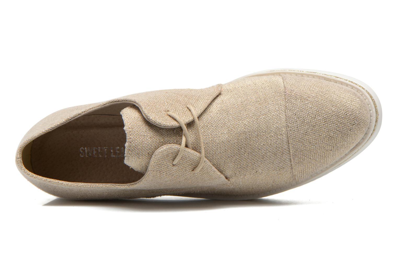 Zapatos con cordones Sweet Lemon L.12 Bahira Oro y bronce vista lateral izquierda