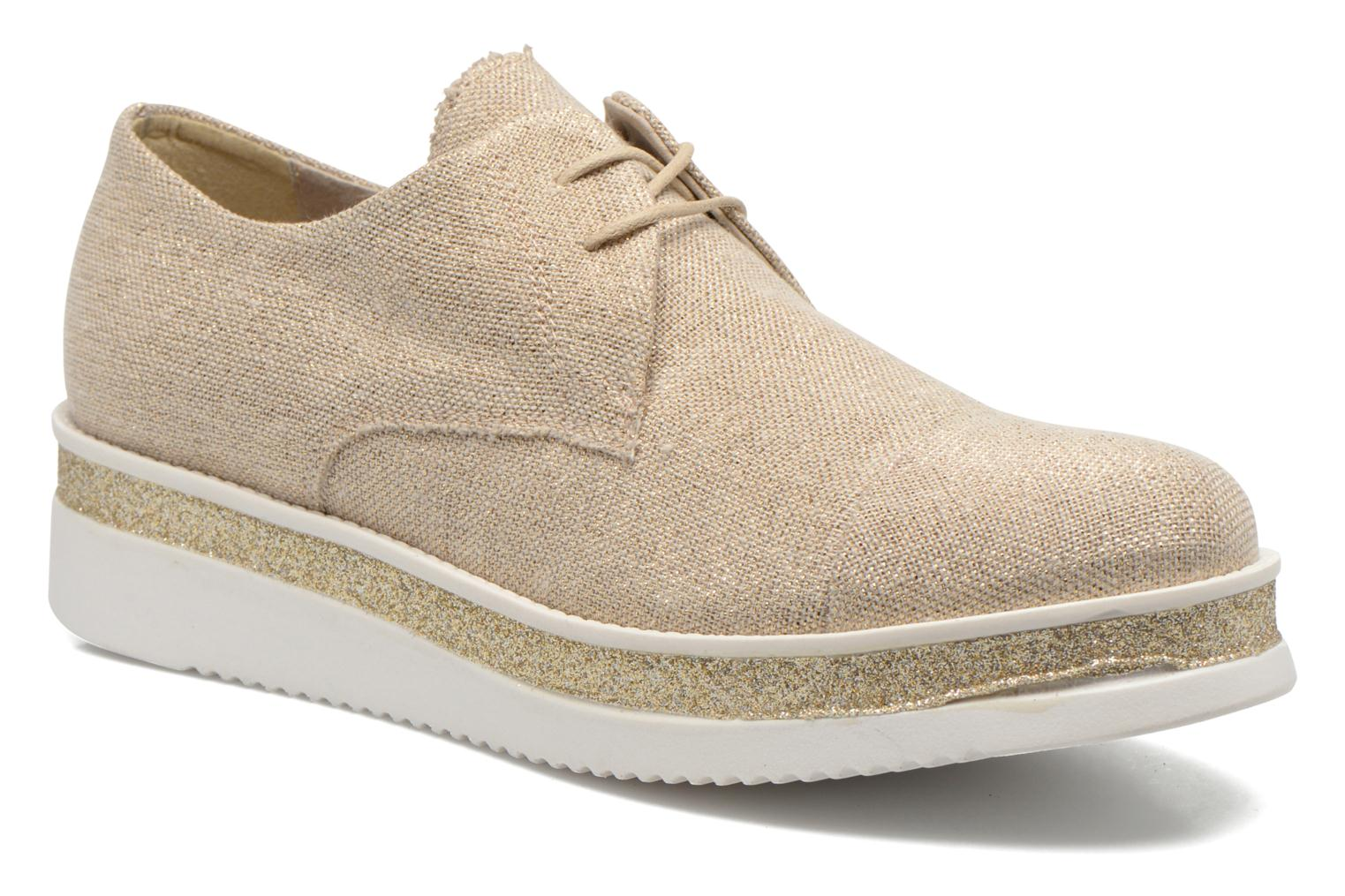 Lace-up shoes Sweet Lemon L.12 Bahira Bronze and Gold detailed view/ Pair view