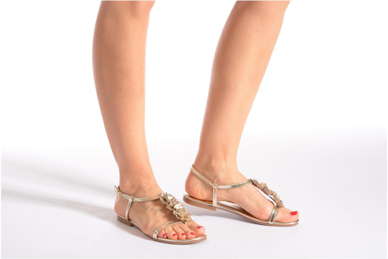 Sandales et nu-pieds Georgia Rose Lufroufrou Or et bronze vue bas / vue portée sac
