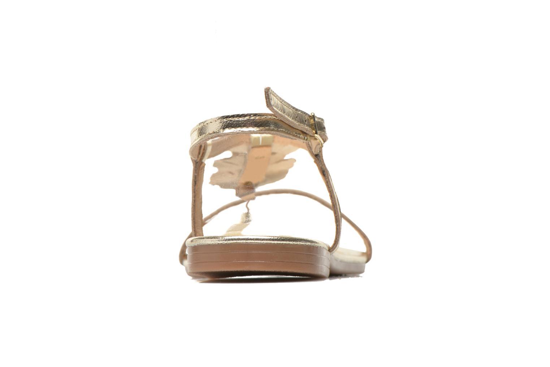 Sandales et nu-pieds Georgia Rose Lufroufrou Or et bronze vue droite