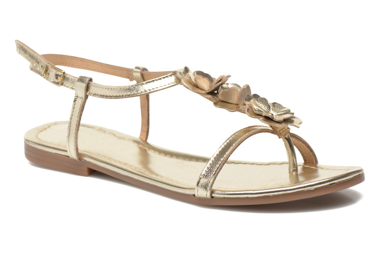 Sandales et nu-pieds Georgia Rose Lufroufrou Or et bronze vue détail/paire