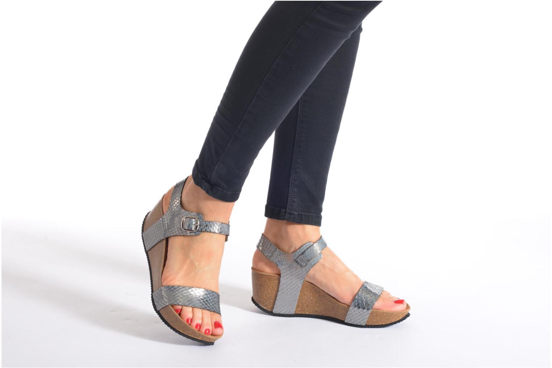Sandales et nu-pieds Rondinaud Bionne Rose vue bas / vue portée sac