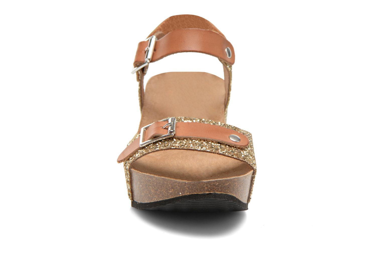 Sandales et nu-pieds Rondinaud Braye Or et bronze vue portées chaussures