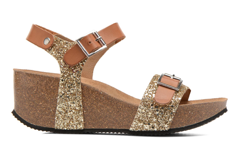 Sandales et nu-pieds Rondinaud Braye Or et bronze vue derrière