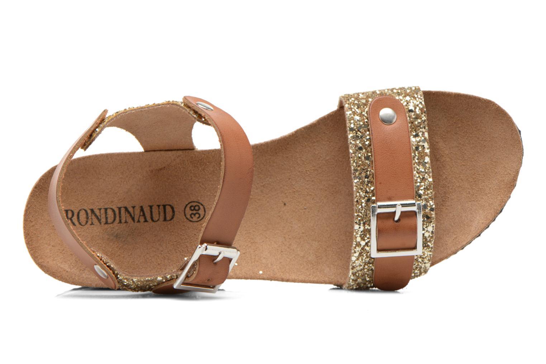 Sandales et nu-pieds Rondinaud Braye Or et bronze vue gauche