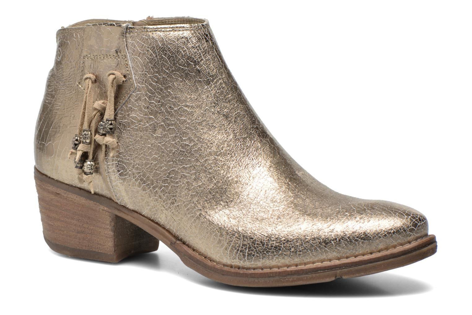 Ankle boots Khrio Monteria 2 Bronze and Gold detailed view/ Pair view