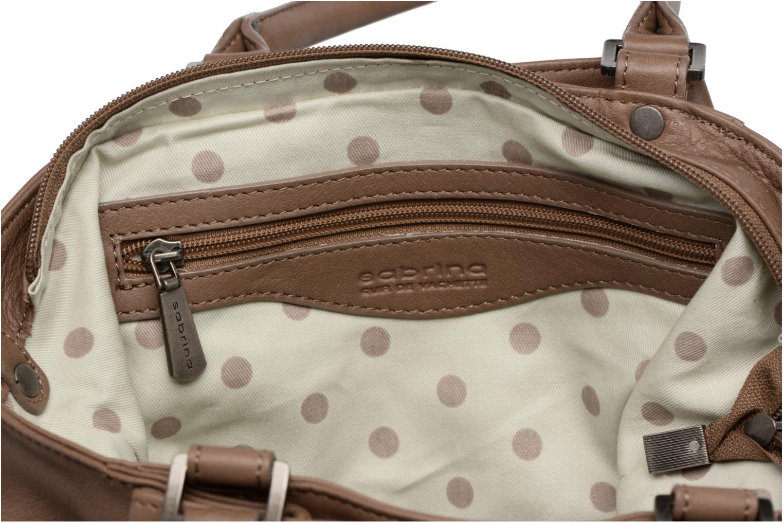 Handtassen Sabrina Aliénor Bruin achterkant