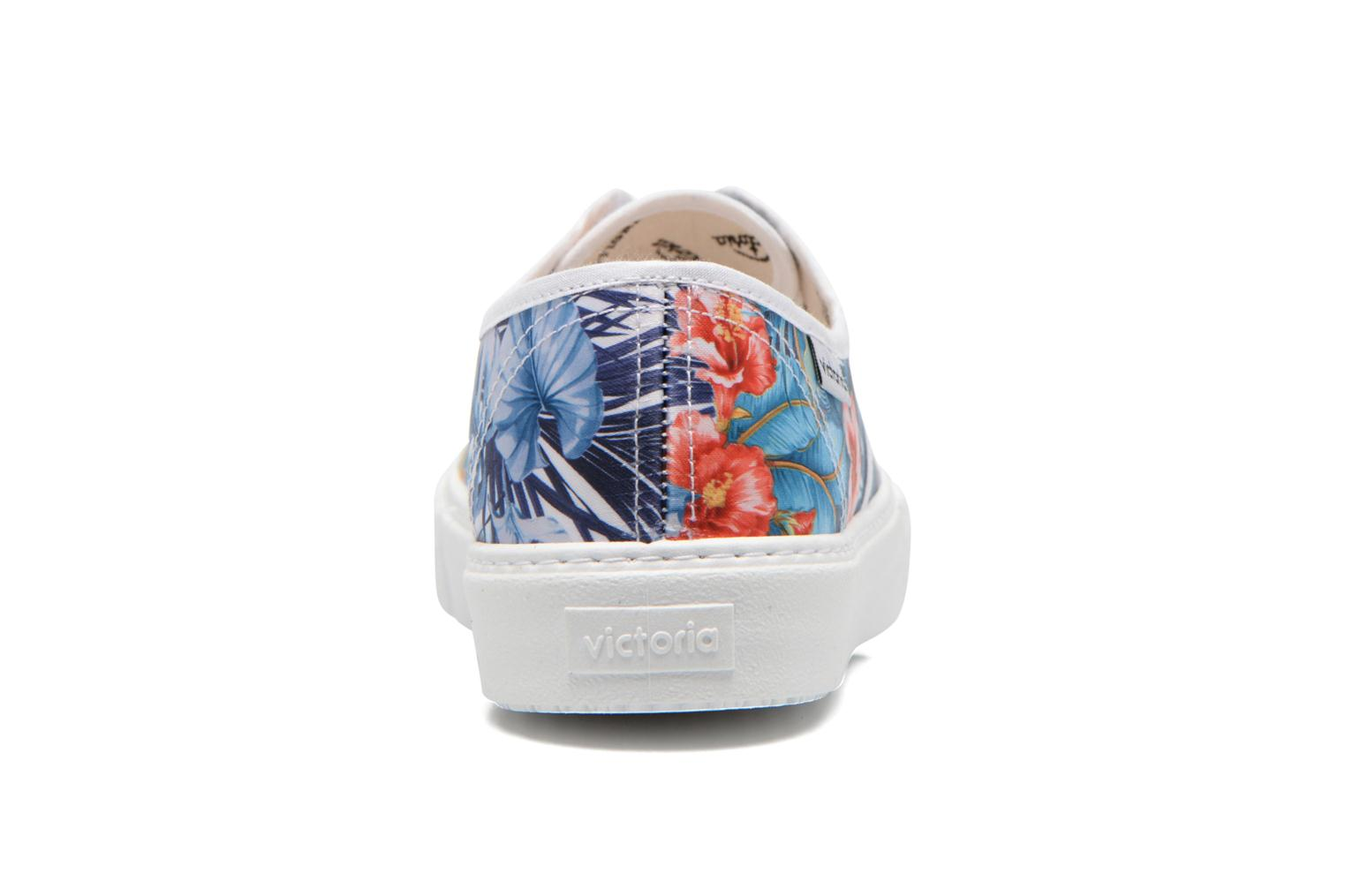 Trainers Victoria Ingles Flores Y Corazones Multicolor view from the right