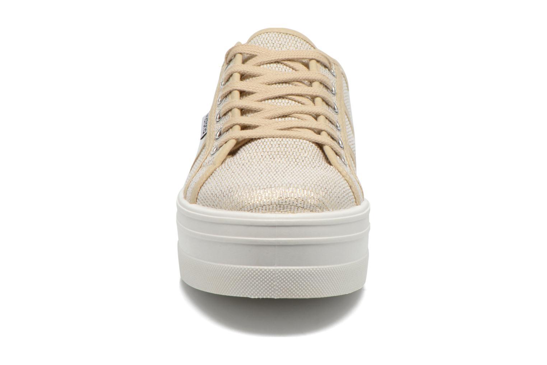 Baskets Victoria Basket Tejido Lurex Or et bronze vue portées chaussures