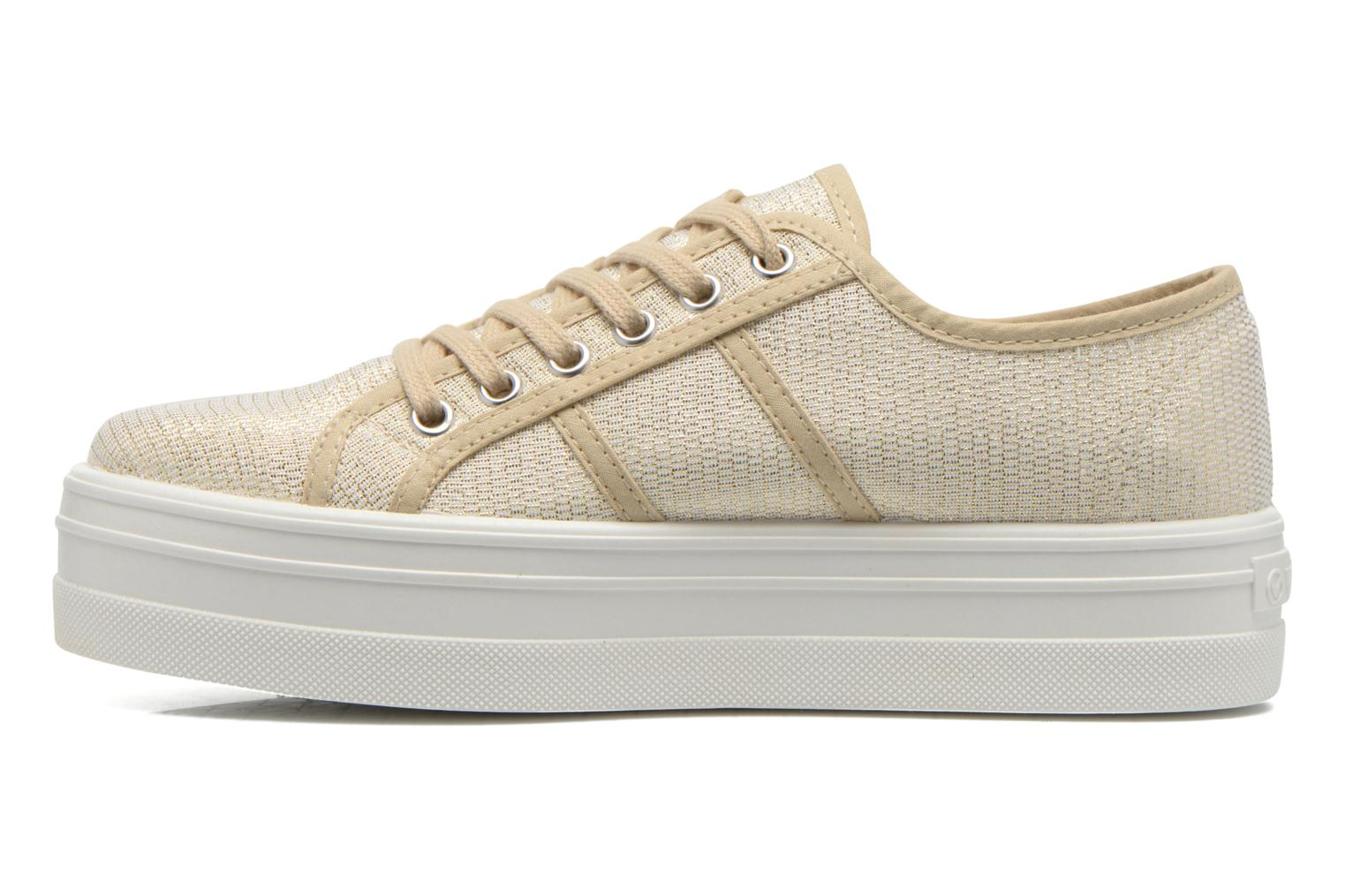Trainers Victoria Basket Tejido Lurex Bronze and Gold front view