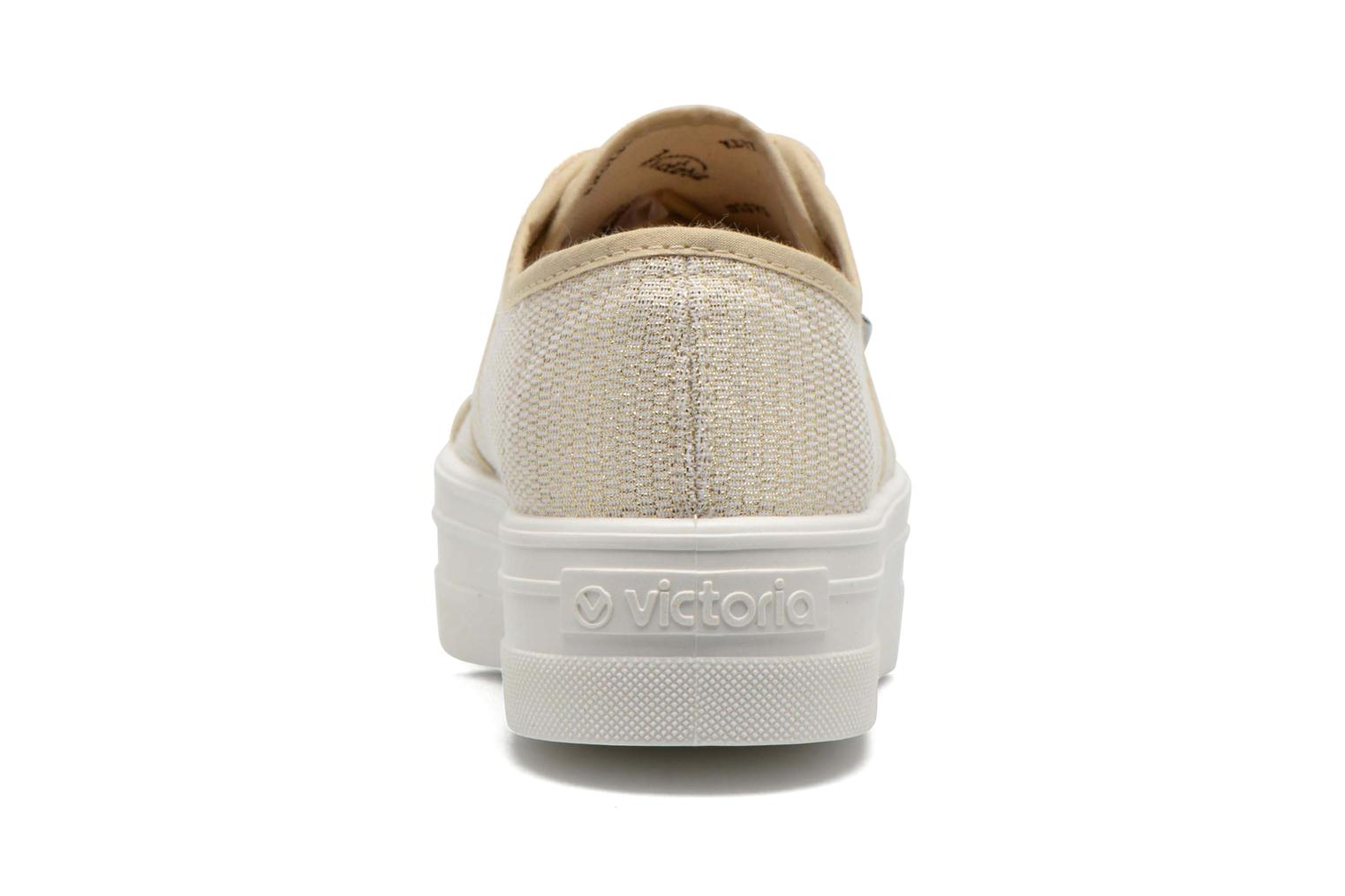 Trainers Victoria Basket Tejido Lurex Bronze and Gold view from the right