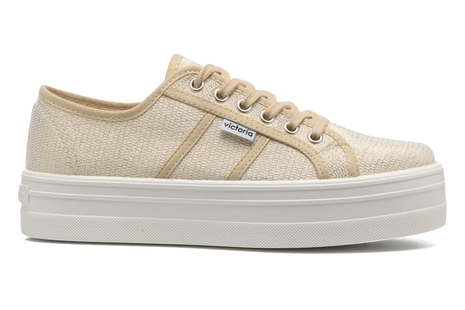 Trainers Victoria Basket Tejido Lurex Bronze and Gold back view