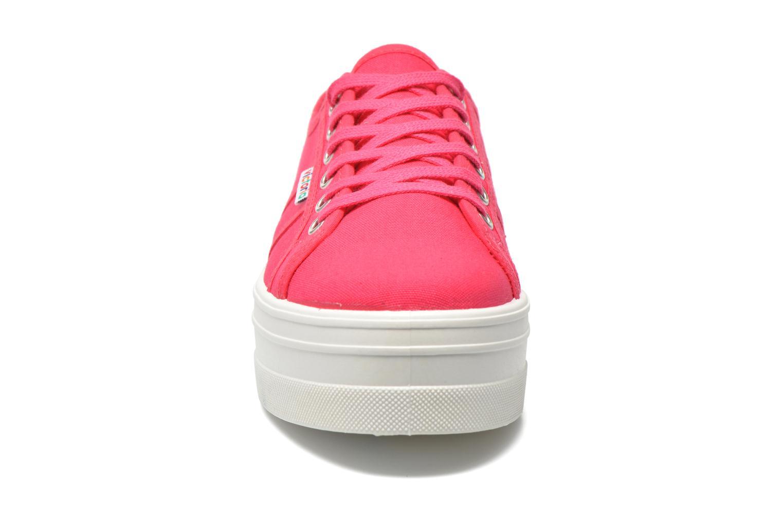 Baskets Victoria Basket Lona Plataforma Rose vue portées chaussures