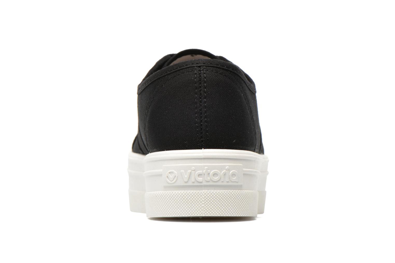 Basket Lona Plataforma Negro blanco