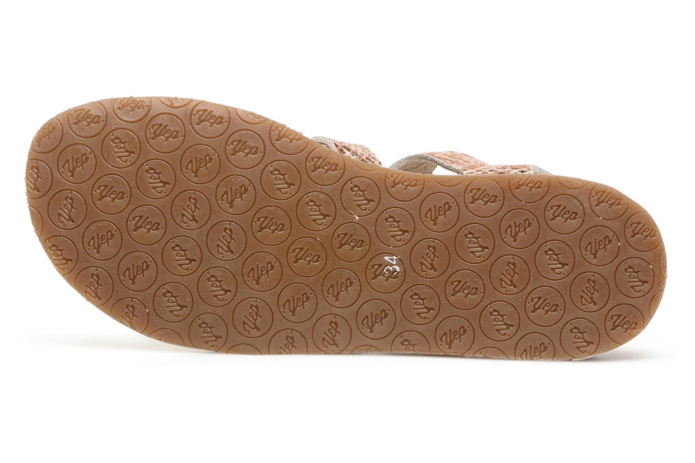 Sandales et nu-pieds Yep Daisie Or et bronze vue haut