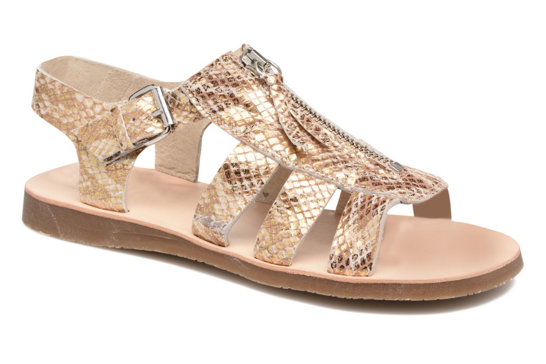 Sandales et nu-pieds Yep Daisie Or et bronze vue détail/paire