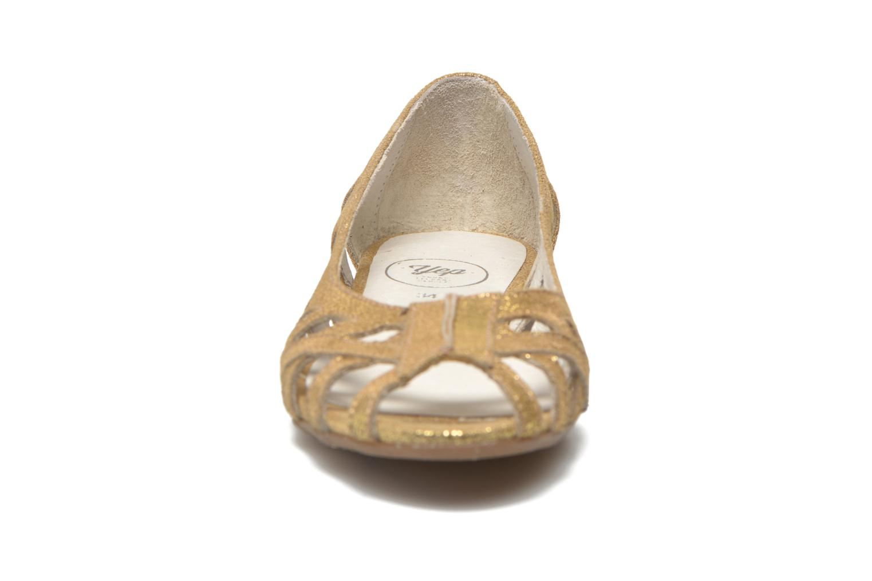 Ballerines Yep Diane Or et bronze vue portées chaussures