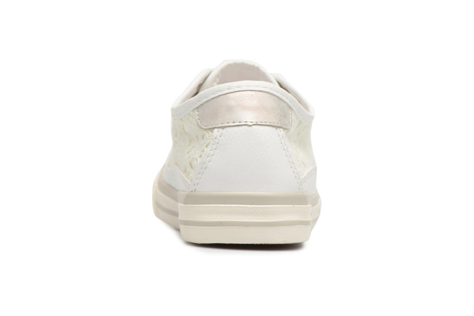 Baskets Mustang shoes Smith Blanc vue droite