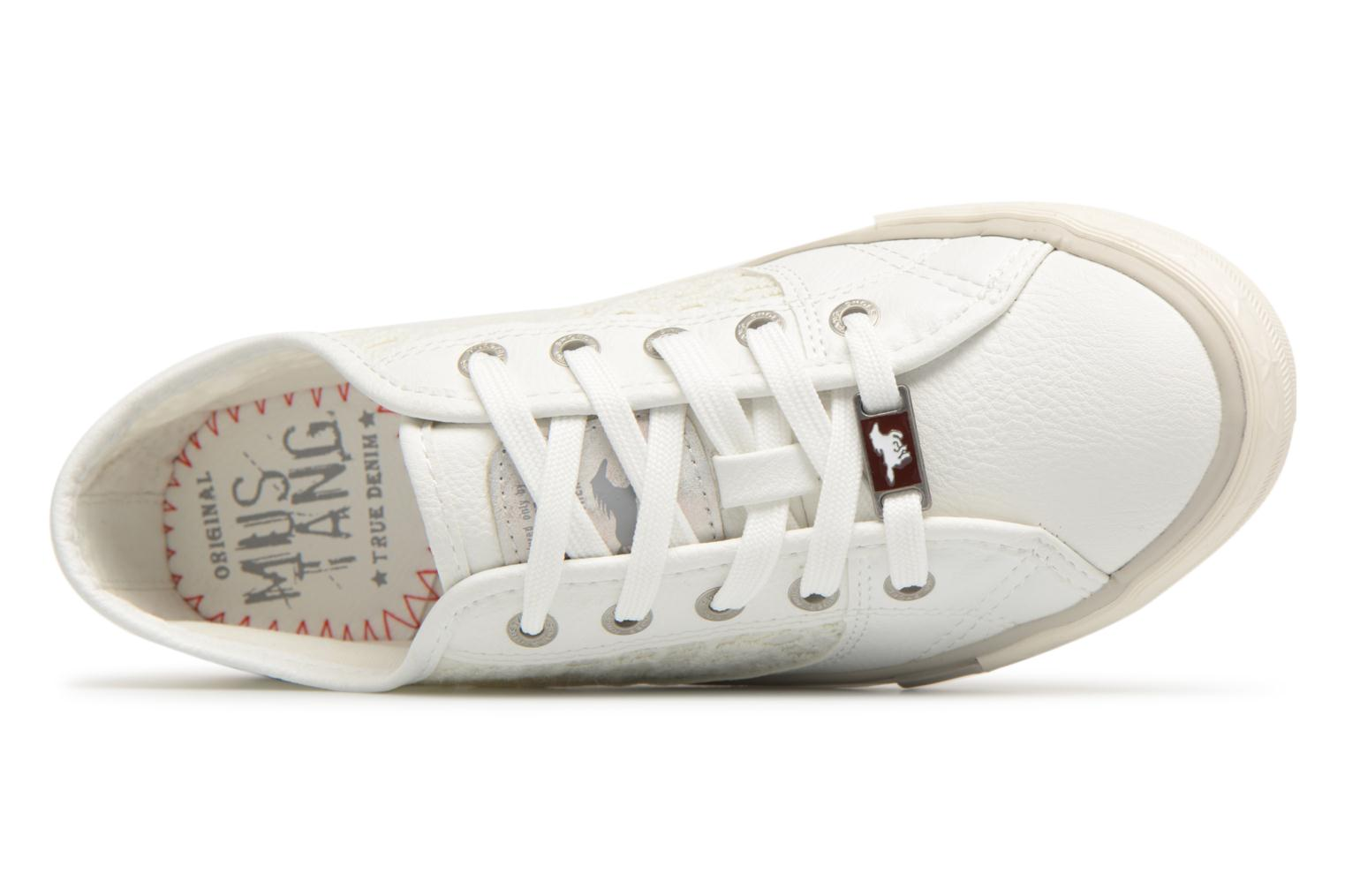 Trainers Mustang shoes Smith White view from the left