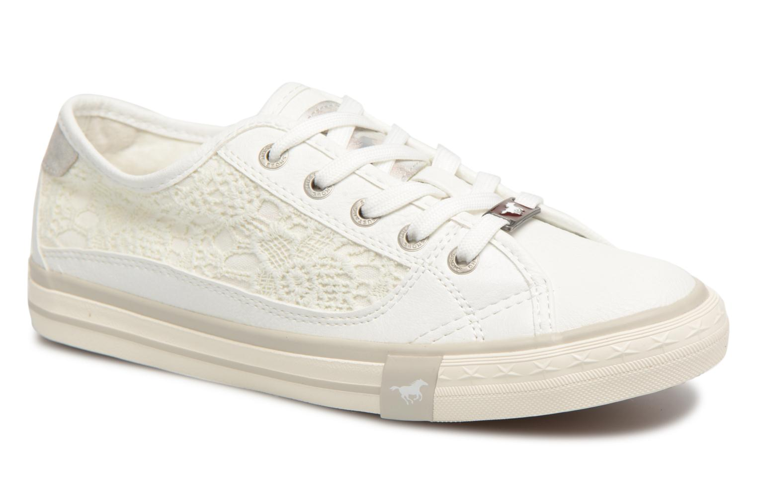 Trainers Mustang shoes Smith White detailed view/ Pair view