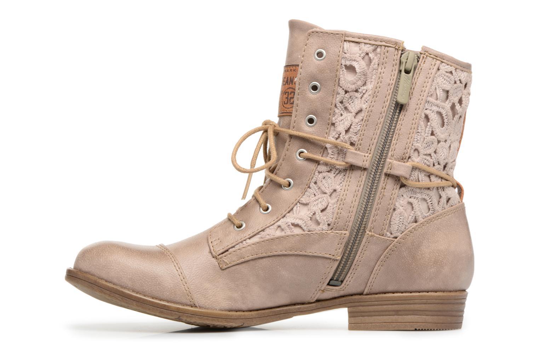 Boots en enkellaarsjes Mustang shoes Freeze Beige voorkant