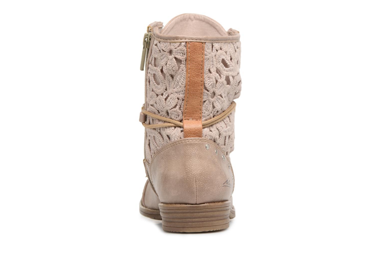 Boots en enkellaarsjes Mustang shoes Freeze Beige rechts