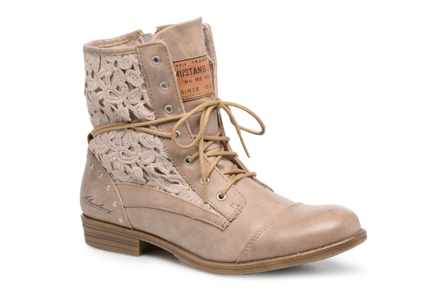 Boots Mustang shoes Freeze Beige detaljerad bild på paret