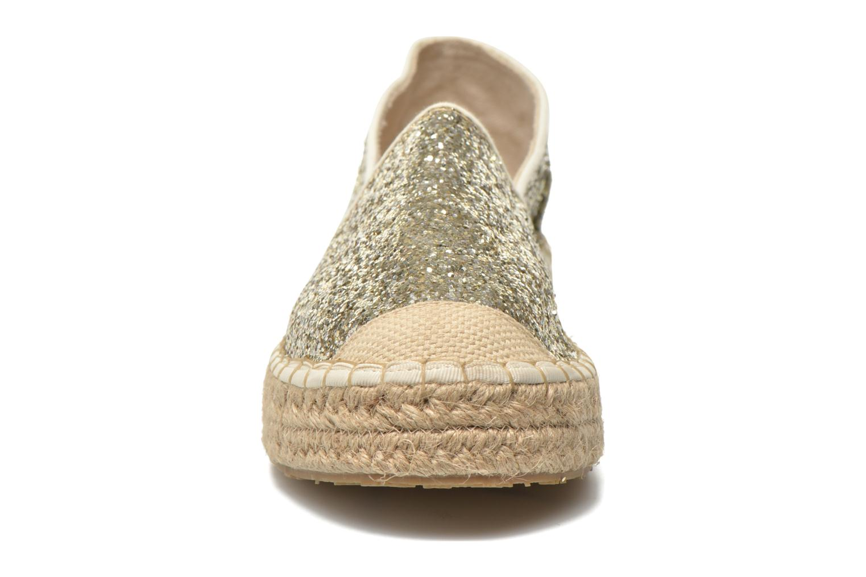 Espadrilles Mustang shoes Brouw gold/bronze schuhe getragen