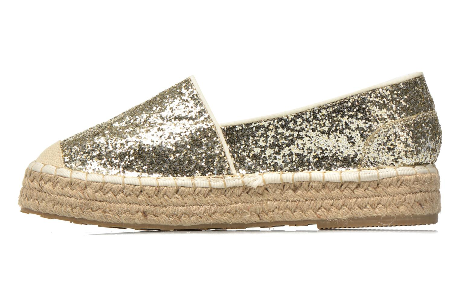 Espadrilles Mustang shoes Brouw Bronze and Gold front view
