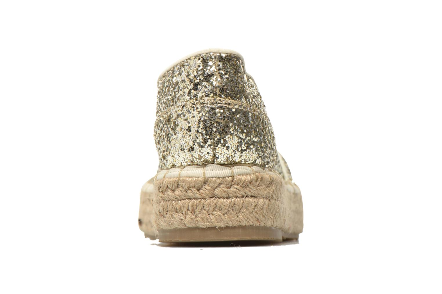 Espadrilles Mustang shoes Brouw Bronze and Gold view from the right