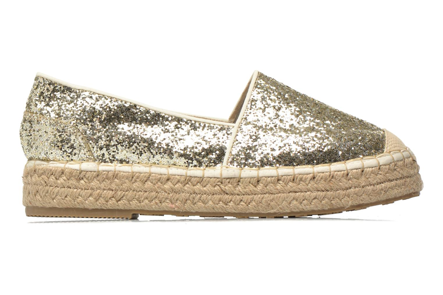 Espadrilles Mustang shoes Brouw Bronze and Gold back view