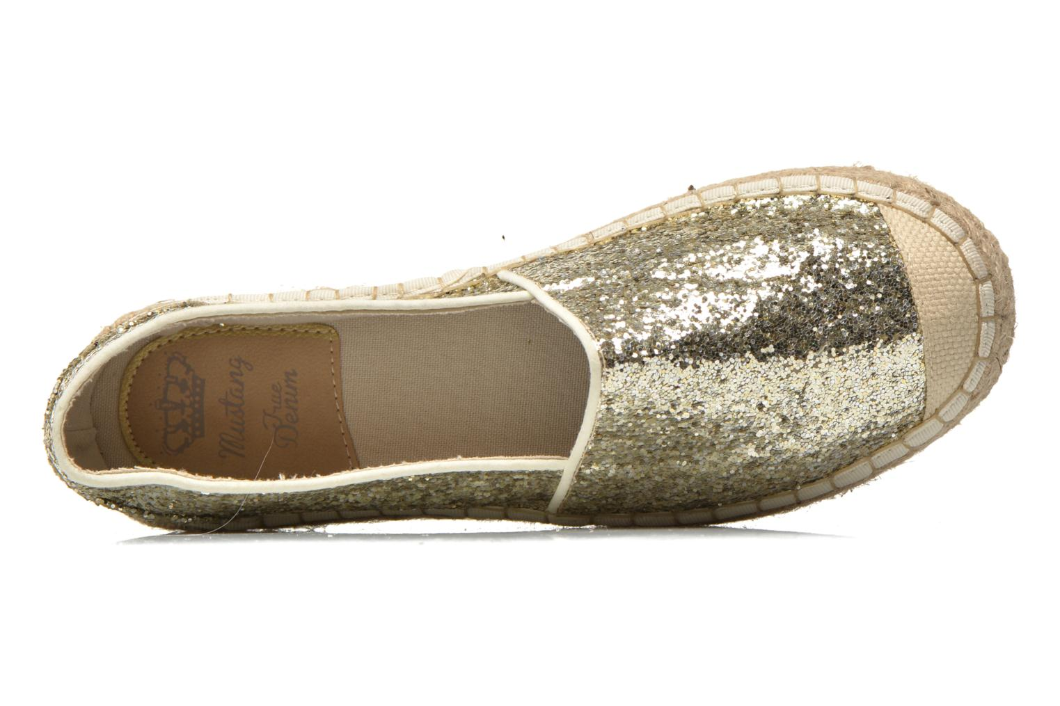 Espadrilles Mustang shoes Brouw Bronze and Gold view from the left