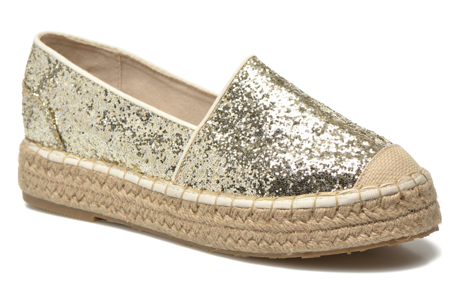 Espadrilles Mustang shoes Brouw Bronze and Gold detailed view/ Pair view