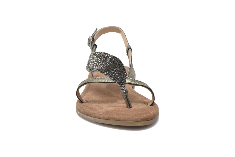Sandales et nu-pieds Mustang shoes Hom Gris vue portées chaussures