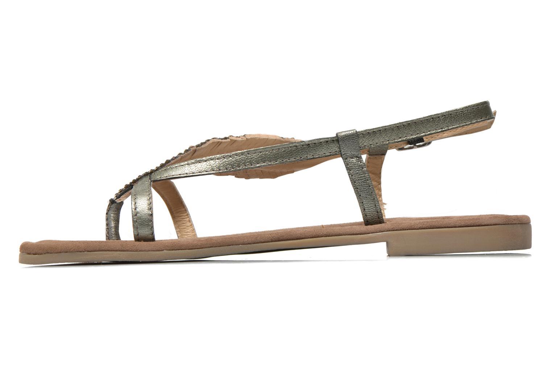 Sandales et nu-pieds Mustang shoes Hom Gris vue face
