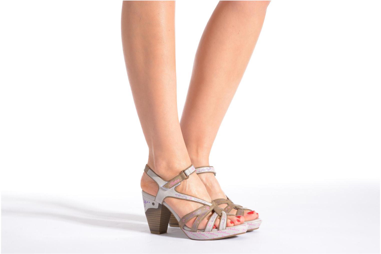 Sandales et nu-pieds Mustang shoes Esplash Multicolore vue bas / vue portée sac