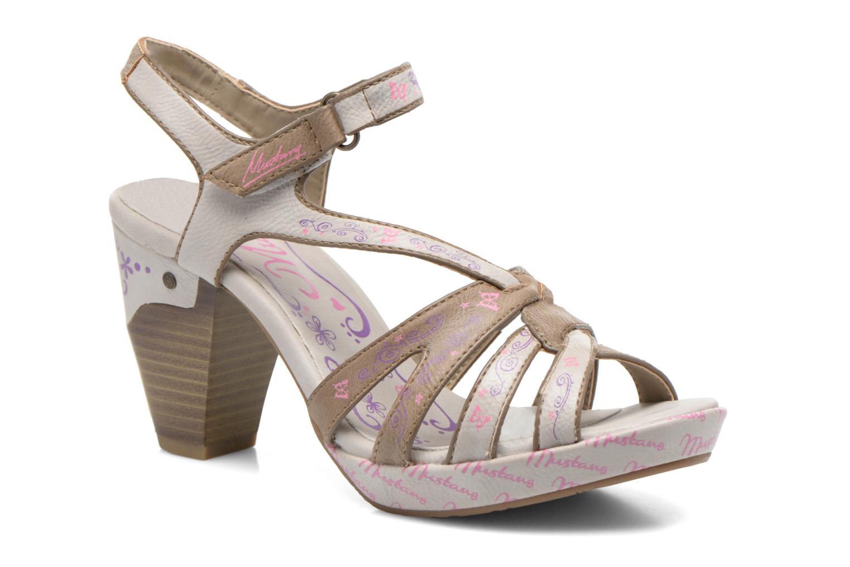 Sandales et nu-pieds Mustang shoes Esplash Multicolore vue détail/paire
