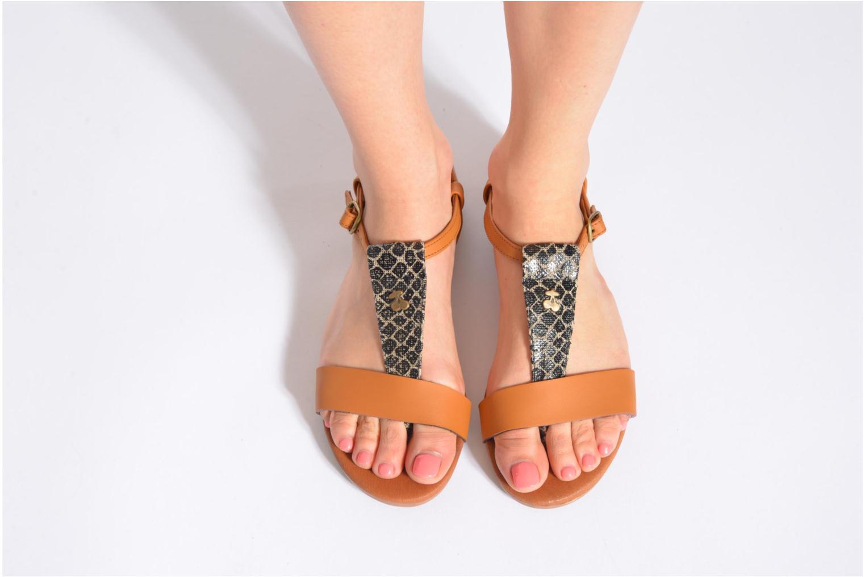 Sandales et nu-pieds Le temps des cerises Carly Multicolore vue bas / vue portée sac
