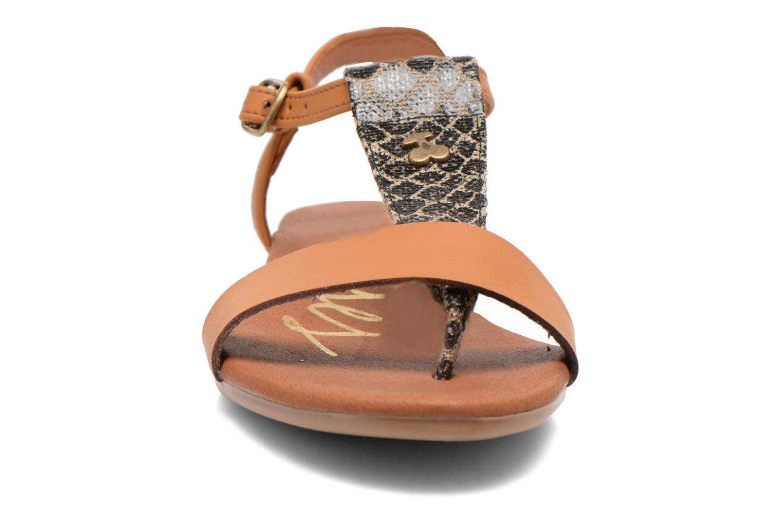 Sandales et nu-pieds Le temps des cerises Carly Multicolore vue portées chaussures
