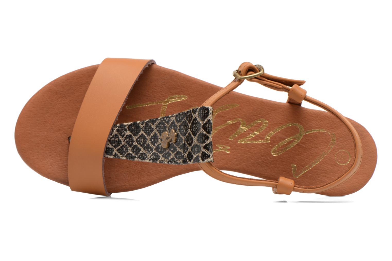 Sandales et nu-pieds Le temps des cerises Carly Multicolore vue gauche