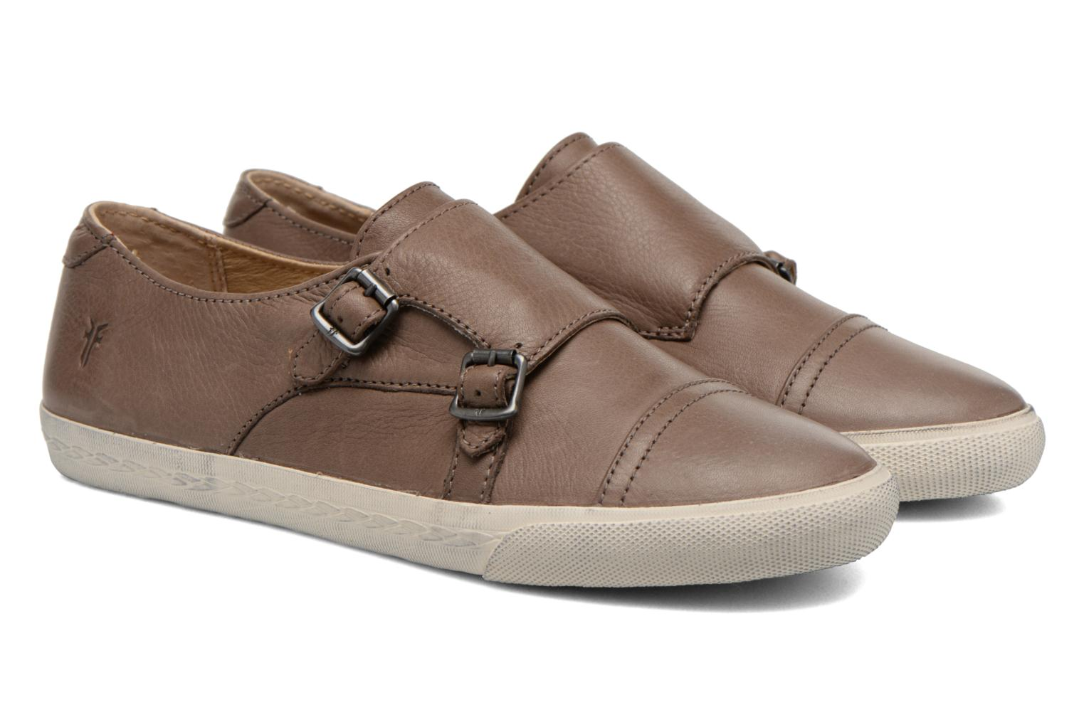 Mocasines Frye Mindy Monk Marrón vista 3/4