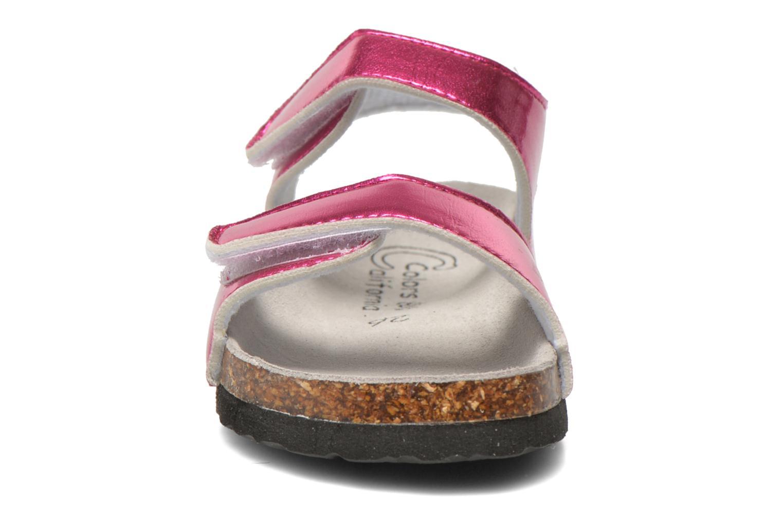 Sandales et nu-pieds Colors of California Bio Laminated Sandals Rose vue portées chaussures