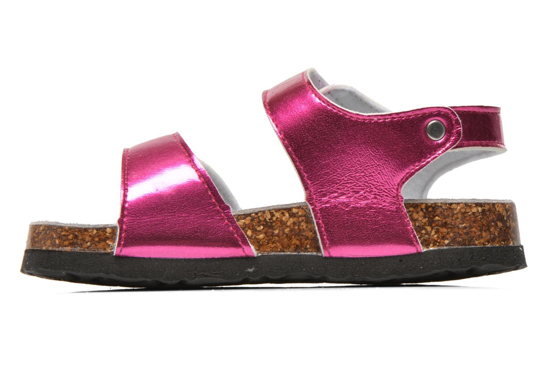 Sandales et nu-pieds Colors of California Bio Laminated Sandals Rose vue face