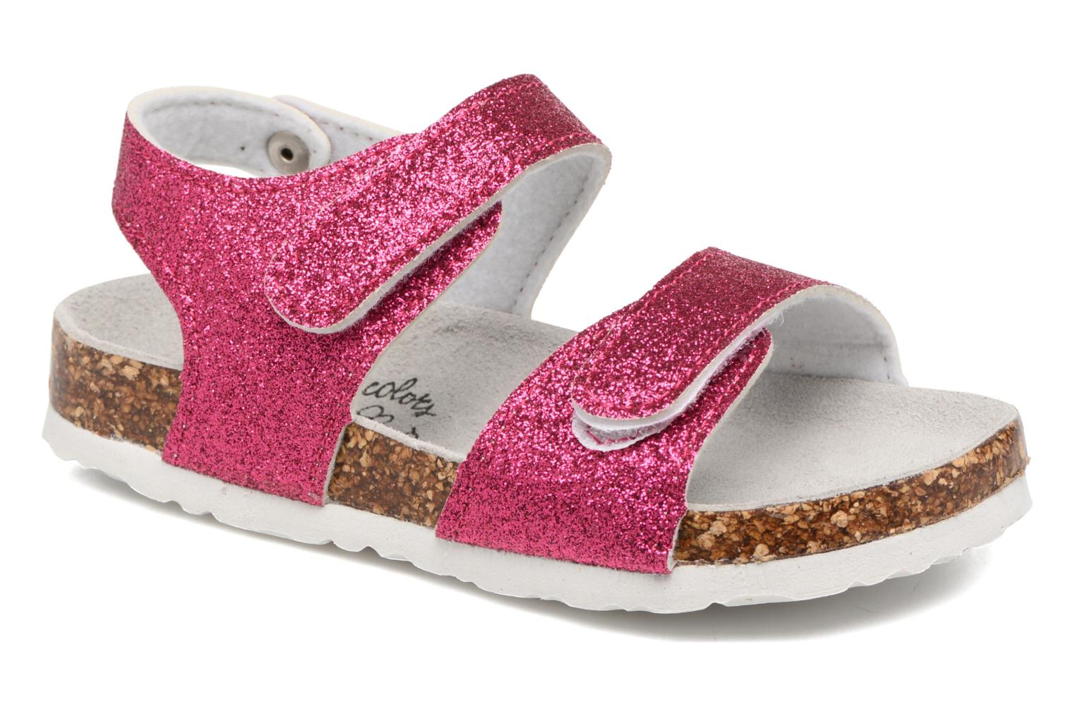 Sandals Colors of California Bio Laminated Sandals Pink detailed view/ Pair view