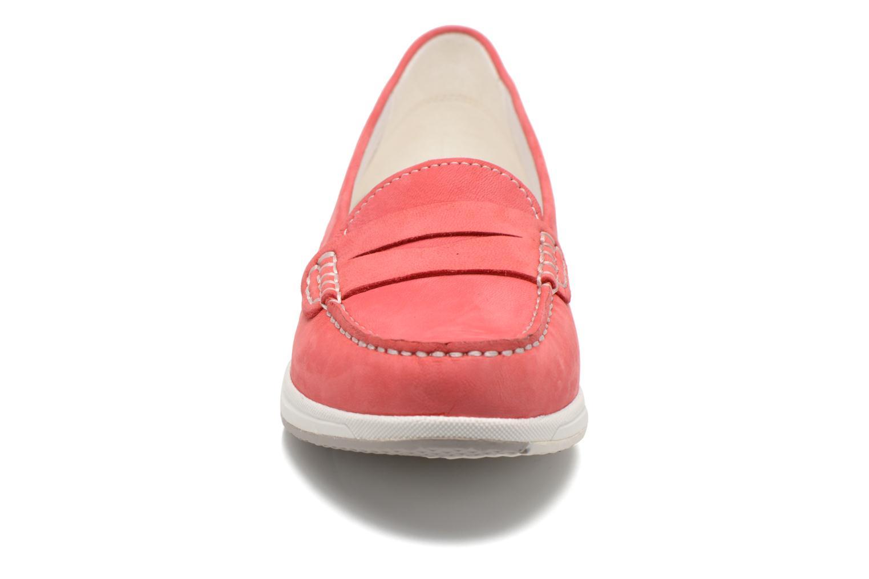Mocassins Geox D AVERY C D62H5C Rose vue portées chaussures