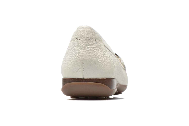 Mocassins Geox D EUXO D D6245D Blanc vue droite