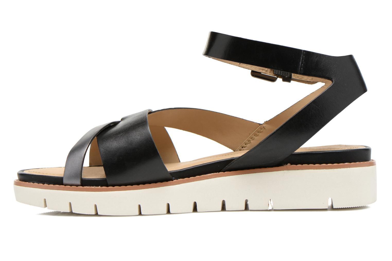 Sandales et nu-pieds Geox D DARLINE B D621YB Noir vue face