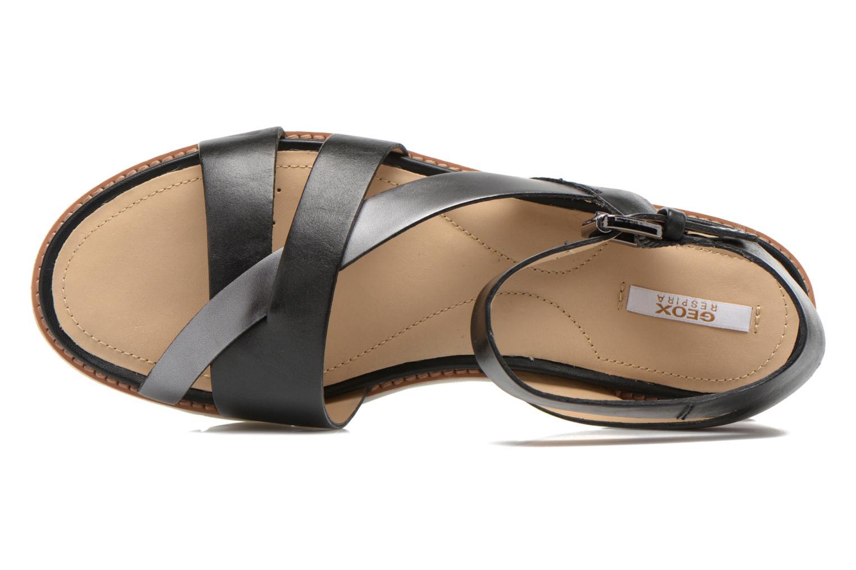 Sandales et nu-pieds Geox D DARLINE B D621YB Noir vue gauche