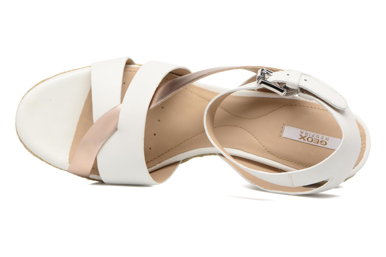 Sandali e scarpe aperte Geox D SOLEIL C D62N7C Bianco immagine sinistra